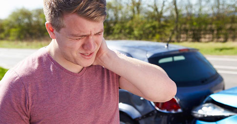Neck injury after car accident